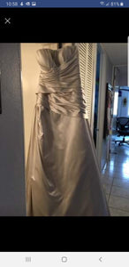 Casablanca '1944' size 14 used wedding dress front view on hanger