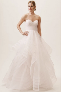 Wtoo 'Garner' size 12 new wedding dress front view on model