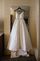 Robert Bullock 'Opal' size 4 used wedding dress front view on hanger