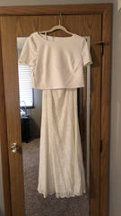 David's Bridal 'DB Studio' size 8 new wedding dress front view on hanger