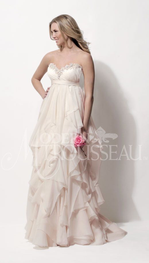 Modern Trousseau 'Norah' Natural Waist - Modern Trousseau - Nearly Newlywed Bridal Boutique - 3