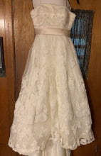 Load image into Gallery viewer, Casablanca '1900' size 10 used wedding dress front view on hanger