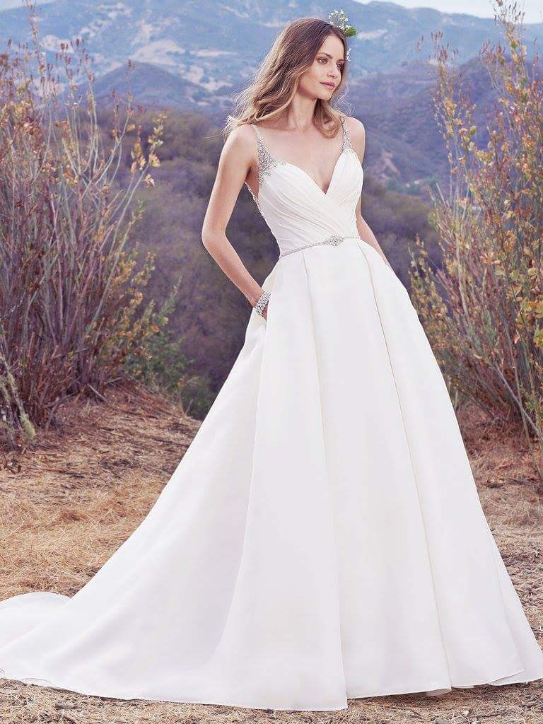 Maggie Sottero 'Rory' size 16 new wedding dress front view on model
