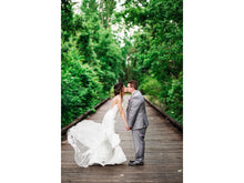 Load image into Gallery viewer, Stella York '6435' size 2 used wedding dress side view on bride
