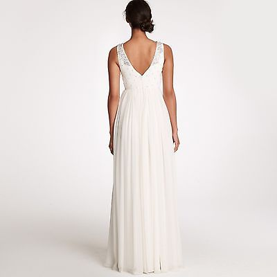J Crew 'Crystalline' size 0 used wedding dress back view on model