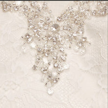 Load image into Gallery viewer, Jewel 'V3801' size 14 new wedding dress close up view