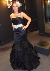 Vera Wang Black Tulle Mermaid Wedding Dress - Vera Wang - Nearly Newlywed Bridal Boutique - 1