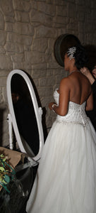 Fiore Coutre 'Princess' size 14 sample wedding dress back view on bride