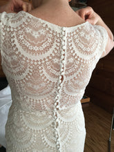 Load image into Gallery viewer, Allure Bridals 'Fern' size 12 used wedding dress back view close up