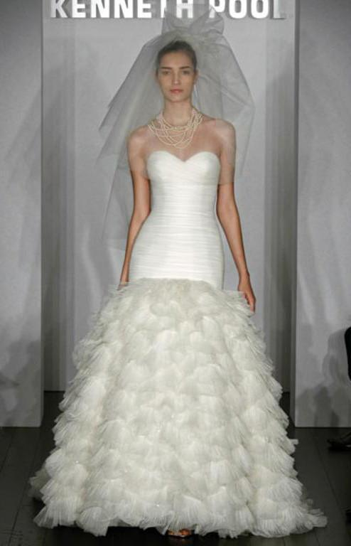 Kenneth Pool Fashionista Mermaid Gown - Kenneth Pool - Nearly Newlywed Bridal Boutique - 1