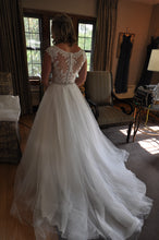 Load image into Gallery viewer, Maggie Sottero '7RS297' size 6 used wedding dress back view on bride