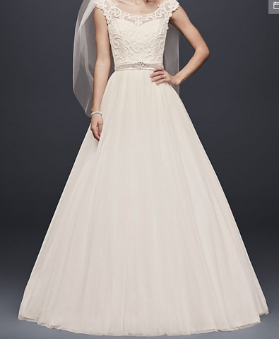David's Bridal 'Tulle Lace Illusion'