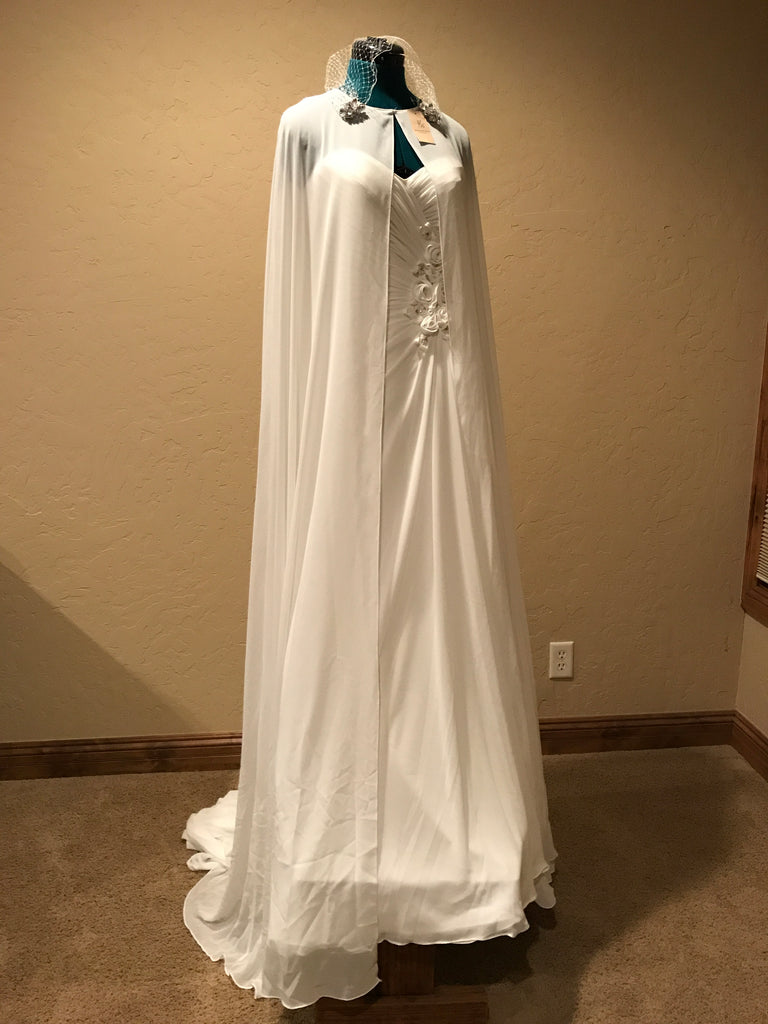 Maggie Sottero 'Zabrina' size 8 new wedding dress front view on mannequin