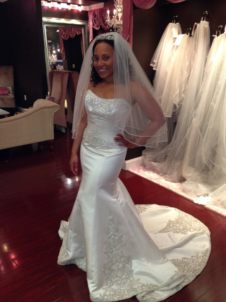 Winnie Couture 'Constance' Satin Pearl - Winnie Couture - Nearly Newlywed Bridal Boutique - 1