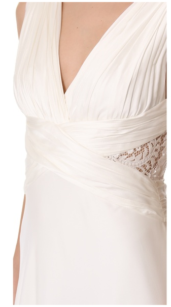 Theia Ruched Chiffon Gown - THEIA - Nearly Newlywed Bridal Boutique - 2