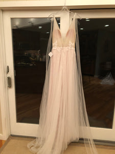 Floravere 'B. Morisot' size 6 sample wedding dress back view on hanger