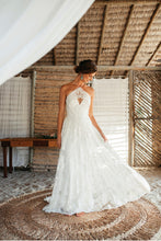 Load image into Gallery viewer, Rue De Seine 'Ferry Night' size 8 used wedding dress front view on bride