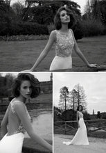 Load image into Gallery viewer, Liz Martinez 'Inga' size 4 used wedding dress multiple views on model