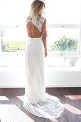 Grace Loves Lace 'Cedar' size 2 new wedding dress back view on model