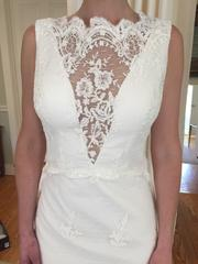 Romona Keveza 'L6139' size 2 new wedding dress front view close up on bride