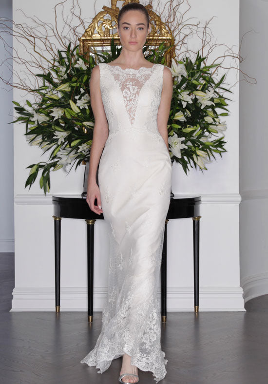 Romona Keveza 'L6139' size 2 new wedding dress front view on model