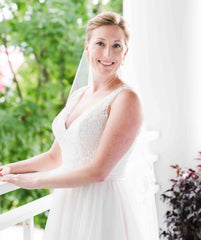 Allure Bridals '2716' size 12 used wedding dress front view on bride