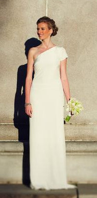 Nicole Miller One Shoulder Gown - Nicole Miller - Nearly Newlywed Bridal Boutique - 3
