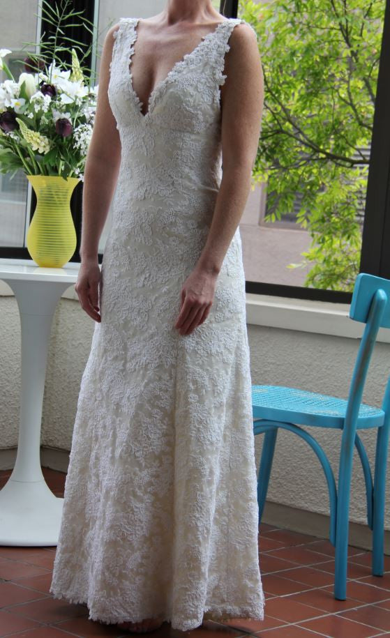 Custom 'Lace and satin' - Customed Designed - Nearly Newlywed Bridal Boutique - 5