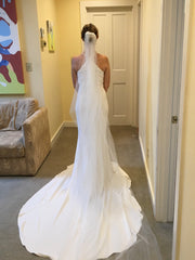 Amsale 'Audrey' size 6 new wedding dress back view on bride