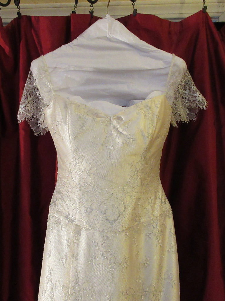 Michelle Roth 'Juliet' size 4 used wedding dress front view on hanger