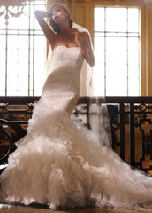 Galina 'Soft White Organza' - Galina - Nearly Newlywed Bridal Boutique - 5