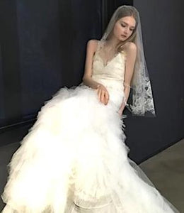 Vera Wang 'Esme' size 8 sample wedding dress front view on model