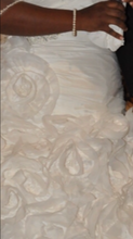 Load image into Gallery viewer, Galina Signature 'Strapless Taffeta Ball Gown with Floral Appliqués SV415'