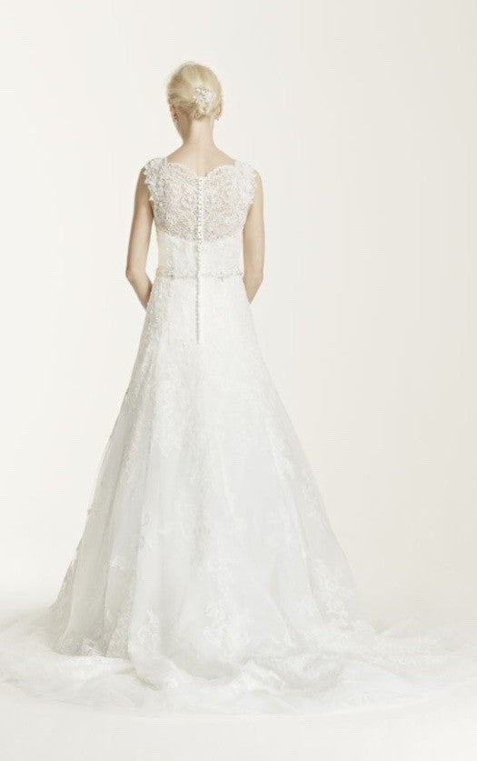 Oleg Cassini 'Petite A-Line' - Oleg Cassini - Nearly Newlywed Bridal Boutique - 1