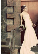 Load image into Gallery viewer, Priscilla of Boston 'Platinum Collection' size 4 used wedding dress front view on bride