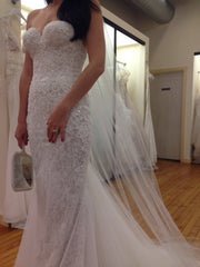 Berta '14-32' size 4 used wedding dress front view on bride