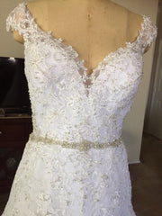 Mori Lee 'Marciana-8117' size 10 new wedding dress front view on mannequin