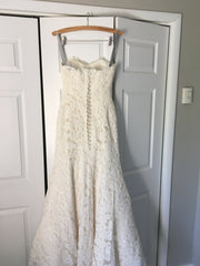 Birnbaum and Bullock 'Vivian' size 2 used wedding dress back view on hanger