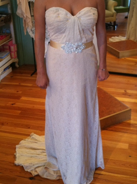Ivy & Aster Violet Strapless Wedding Gown - Ivy & Aster - Nearly Newlywed Bridal Boutique - 4