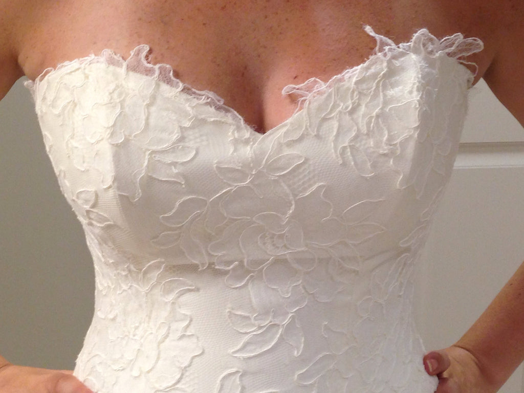 Marisa Style 920 Strapless Lace - Marisa - Nearly Newlywed Bridal Boutique - 5