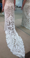 Ulla Maija Bianca Lace and Charmeuse Wedding Gown - Ulla Maija - Nearly Newlywed Bridal Boutique - 3