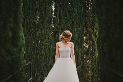 Monique Lhuillier '2 Piece' - Monique Lhuillier - Nearly Newlywed Bridal Boutique - 1