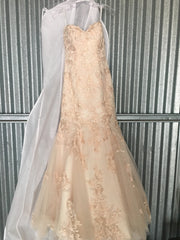 Essence of Australia 'Blush' size 10 new wedding dress front view on hanger