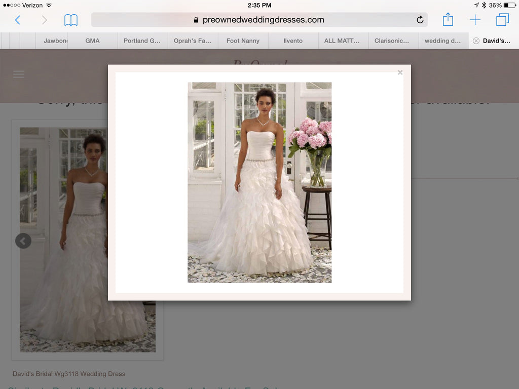 David's Bridal 'Strapless Organza' - David's Bridal - Nearly Newlywed Bridal Boutique