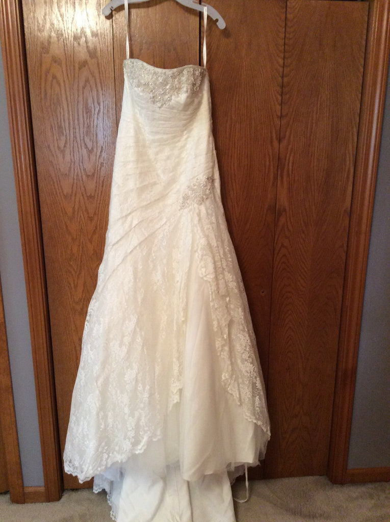 David's Bridal 'Strapless Lace' - David's Bridal - Nearly Newlywed Bridal Boutique