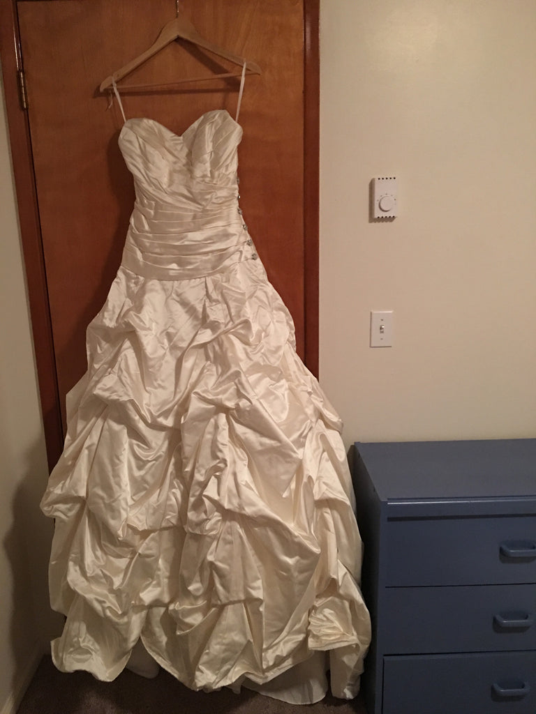 Anne Barge 'Ballgown' size 4 used wedding dress front view on hanger