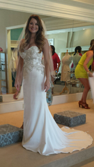 Casablanca '2202' size 2 new wedding dress side view on bride