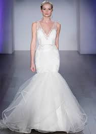 Hayley Paige 'Brooke' size 2 used wedding dress front view on model