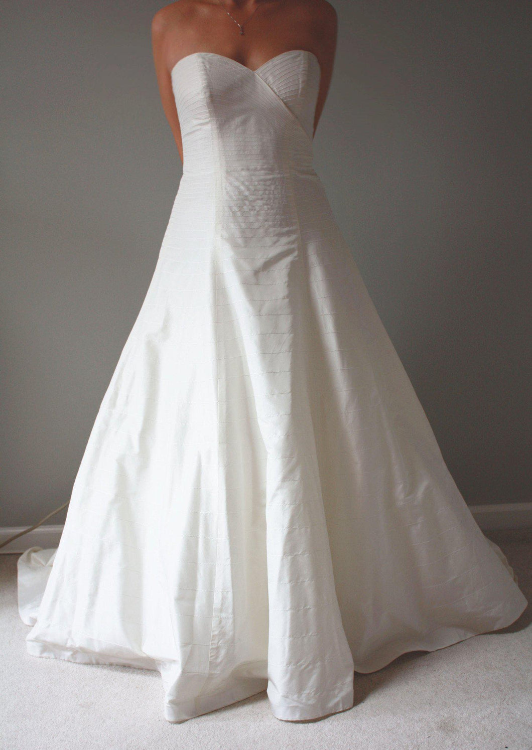 Priscilla of Boston Lynette Crossover Gown - Priscilla of Boston - Nearly Newlywed Bridal Boutique - 1