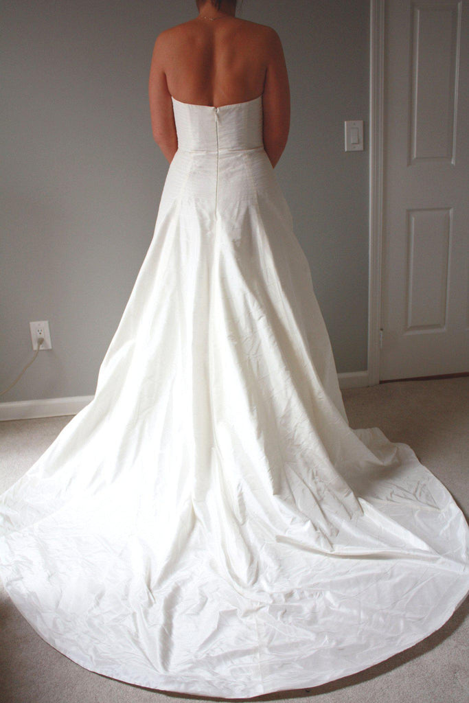 Priscilla of Boston Lynette Crossover Gown - Priscilla of Boston - Nearly Newlywed Bridal Boutique - 2